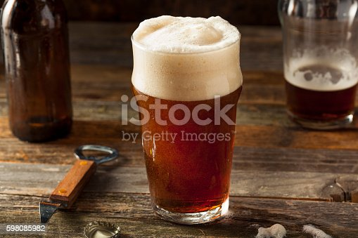istock Refreshing Brown Ale Beer 598085982