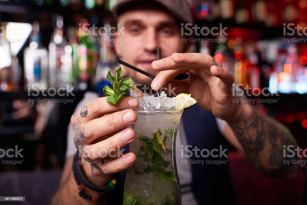 Refreshing cocktail stock photo
