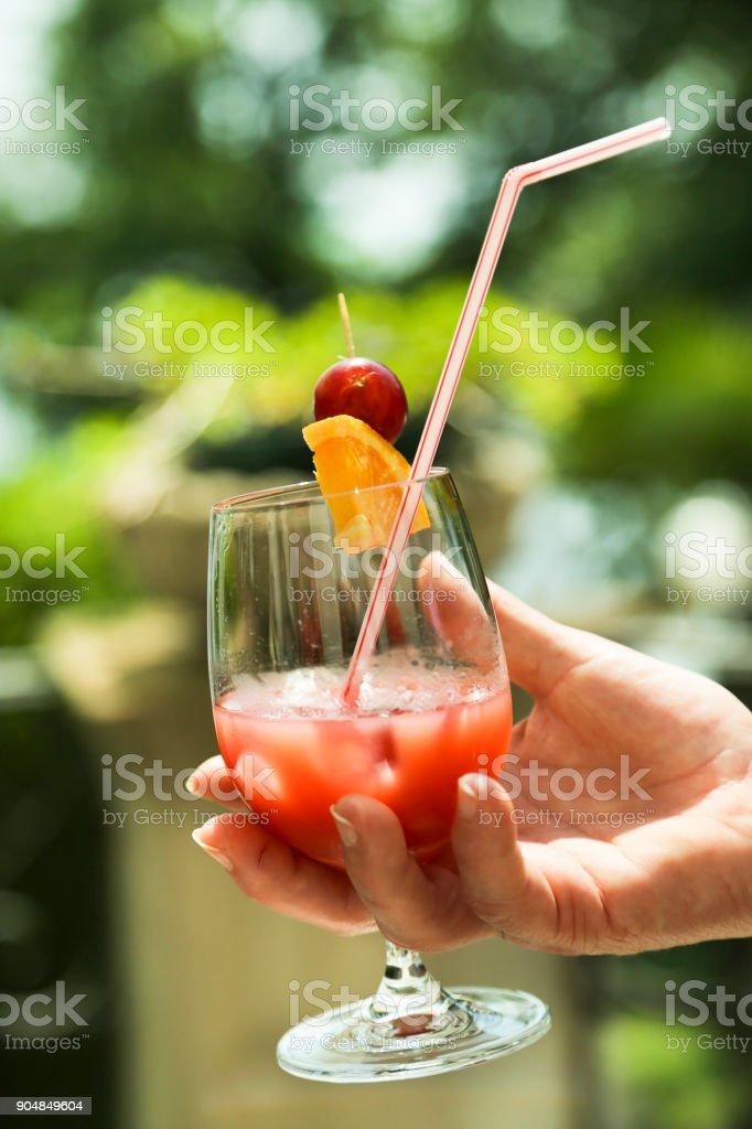 Refreshing cocktail stock photo