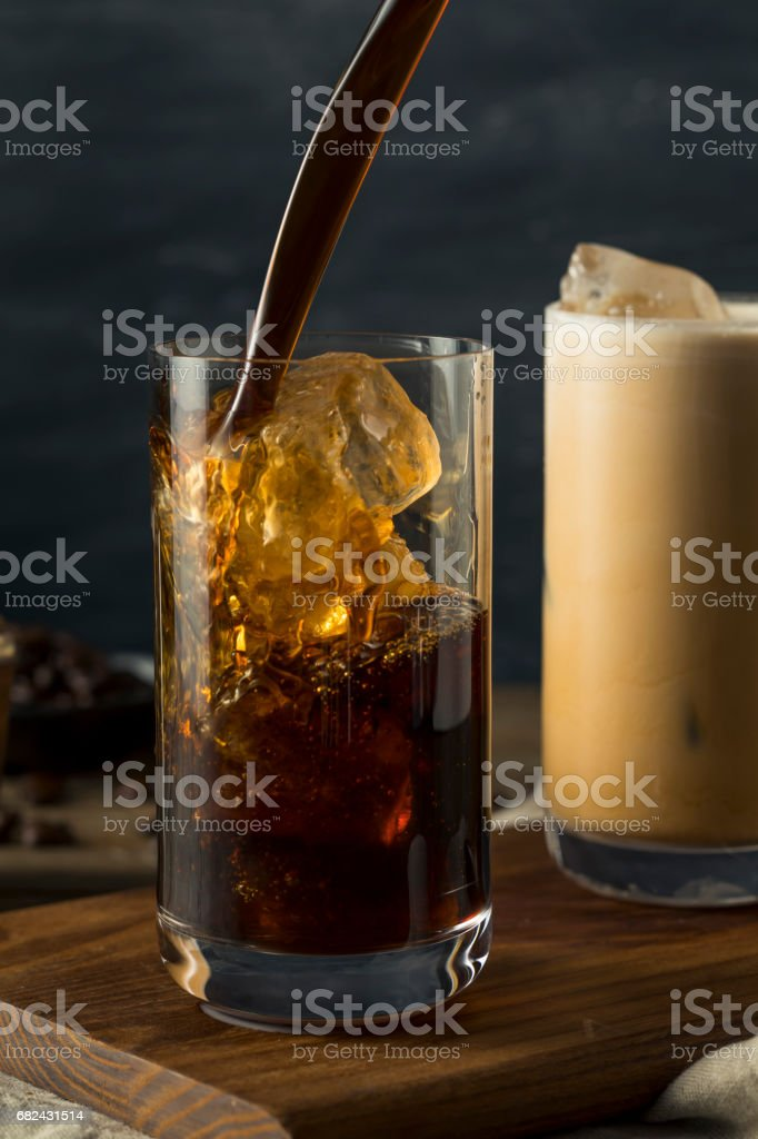 Refreshing Cold Thai Iced Coffee 免版稅 stock photo