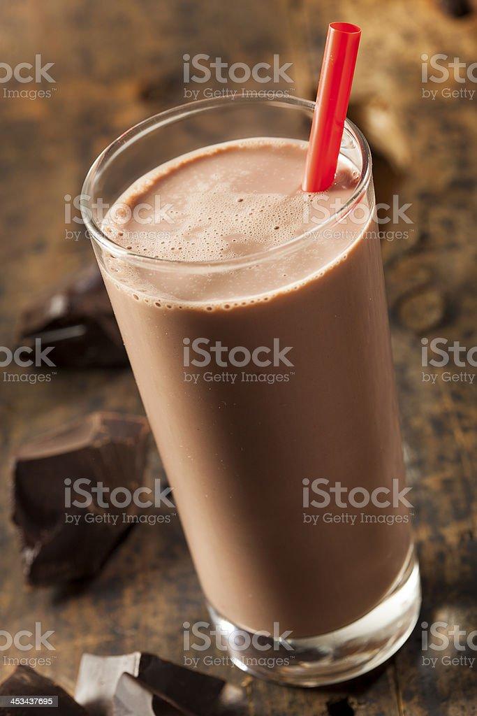 Refreshing Delicious Chocolate Milk stock photo