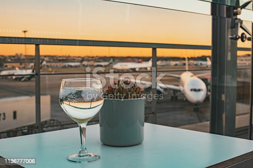 istock A refreshing drink at the airport terrace before catching a flight 1136777006
