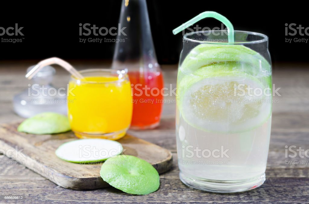 Refreshing drinks for hot summer royalty-free stock photo