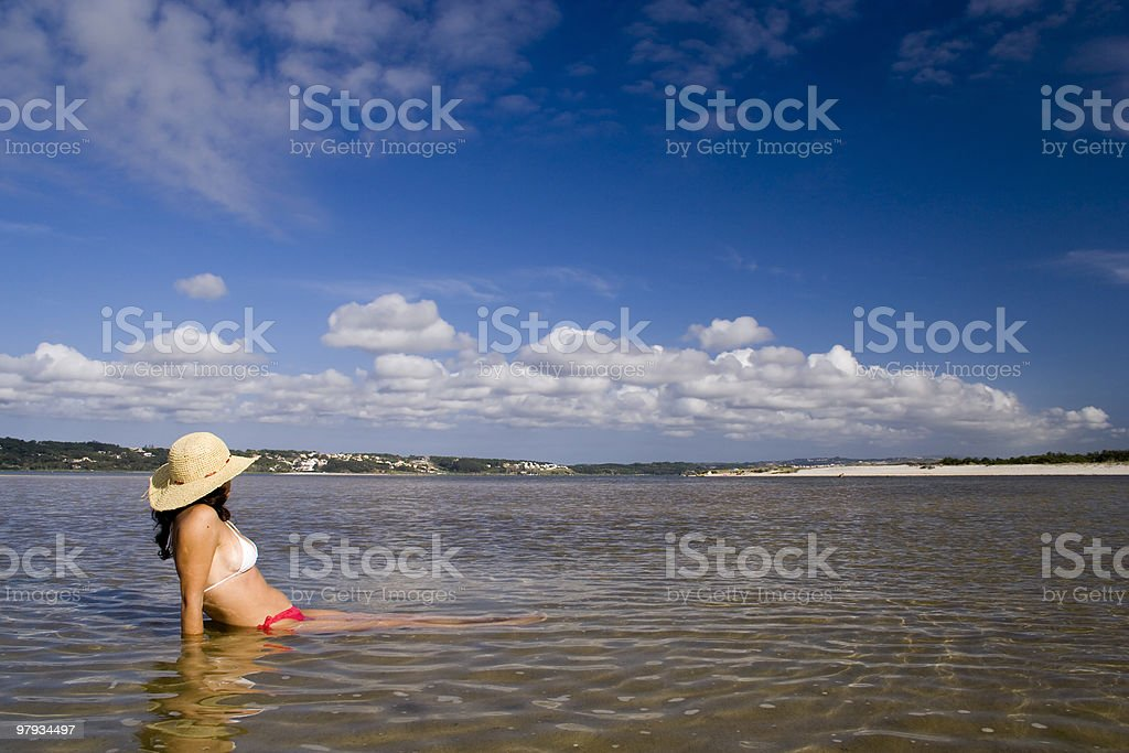 Refreshing from a hot summer royalty-free stock photo