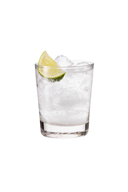 Refreshing Gin and Tonic on White Refreshing Gin and Tonic on White with a Clipping Path vodka stock pictures, royalty-free photos & images