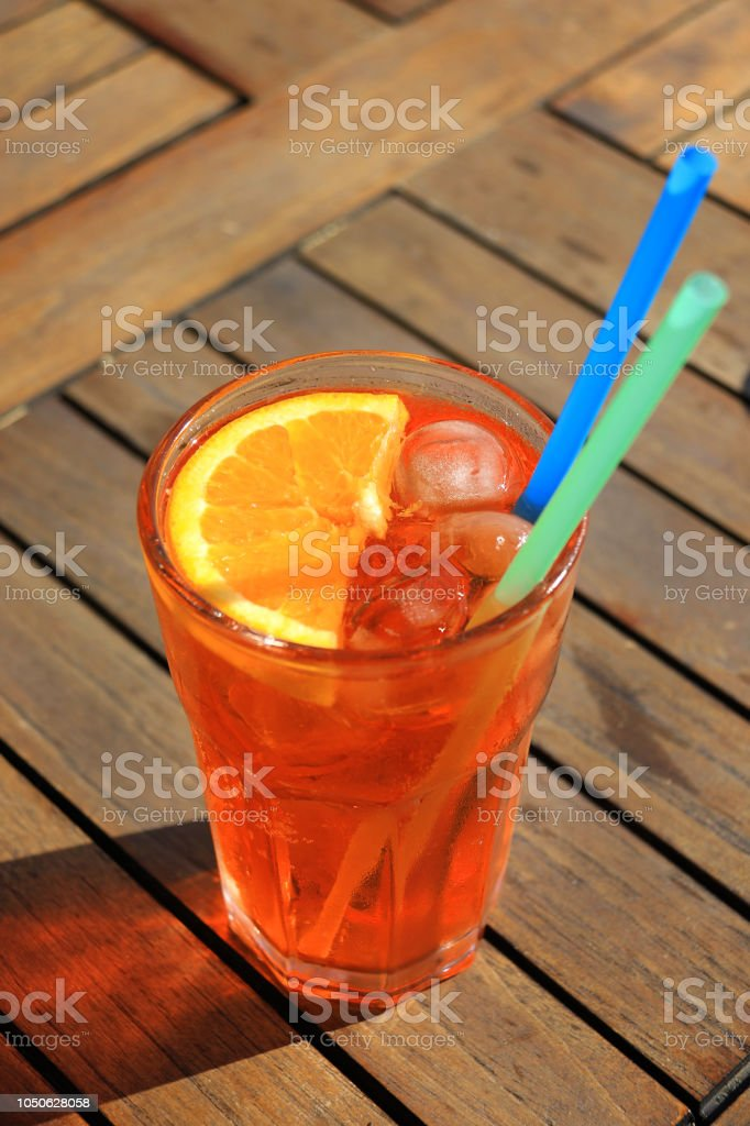 A Refreshing Glass of Spritz Aperol stock photo