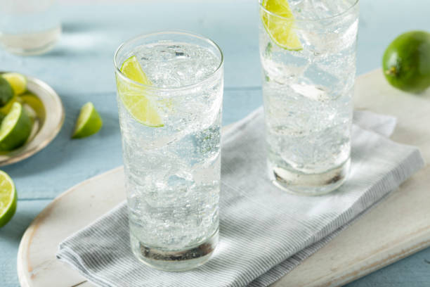 Refreshing Hard Sparkling Water stock photo