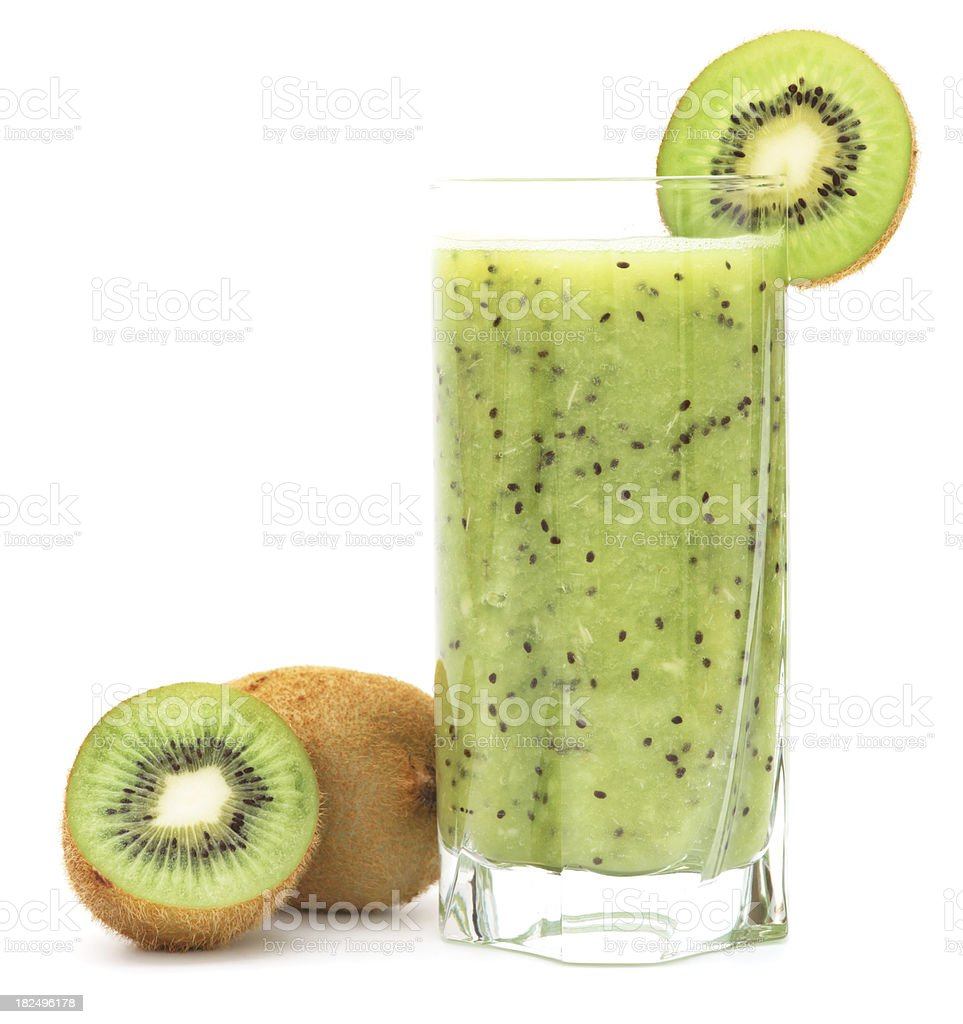Refreshing kiwi juice with fruits royalty-free stock photo