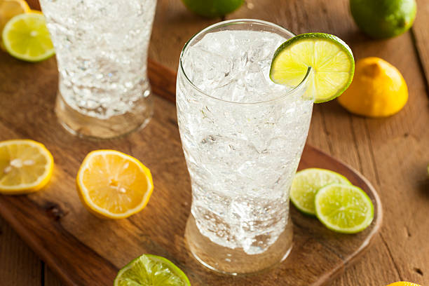 Refreshing Lemon and Lime Soda stock photo