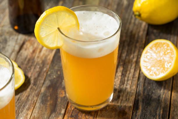 Refreshing Lemon Beer Shandy stock photo