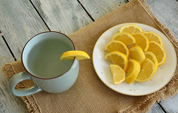 Refreshing Lemon Water stock photo
