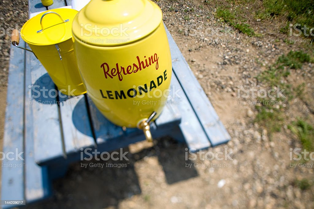 Refreshing Lemonade container royalty-free stock photo