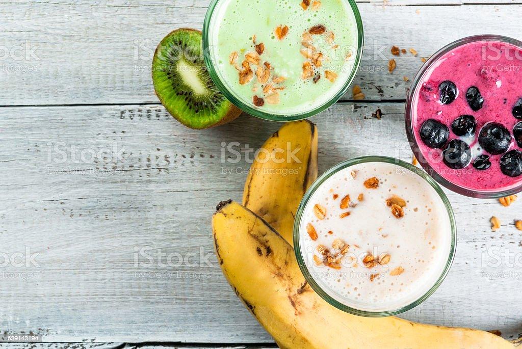 Refreshing milkshakes or smoothies - Photo