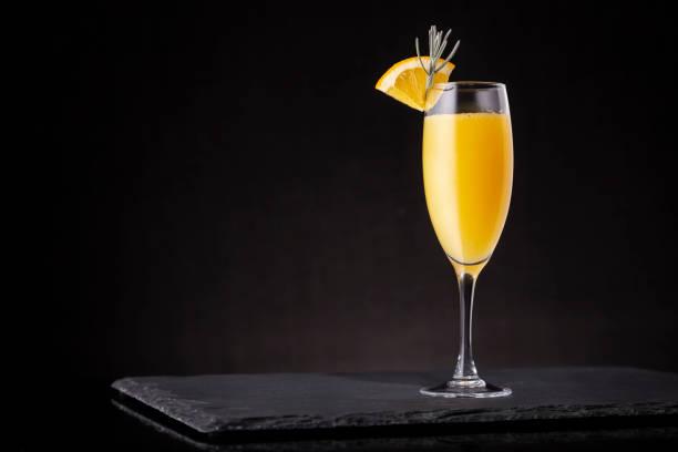 Refreshing mimosa cocktail stock photo