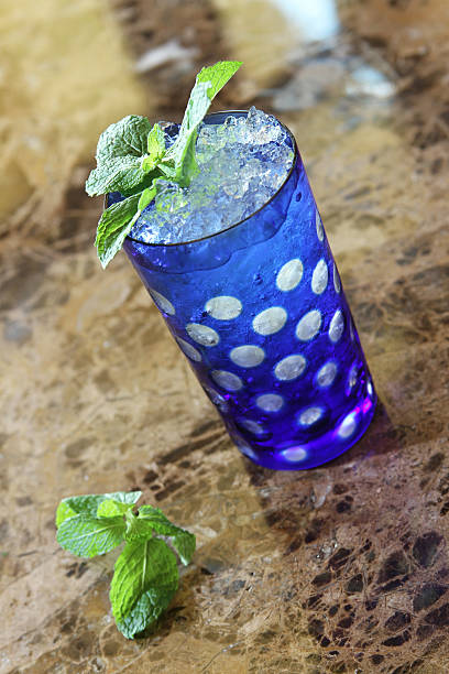 refreshing mint drink stock photo
