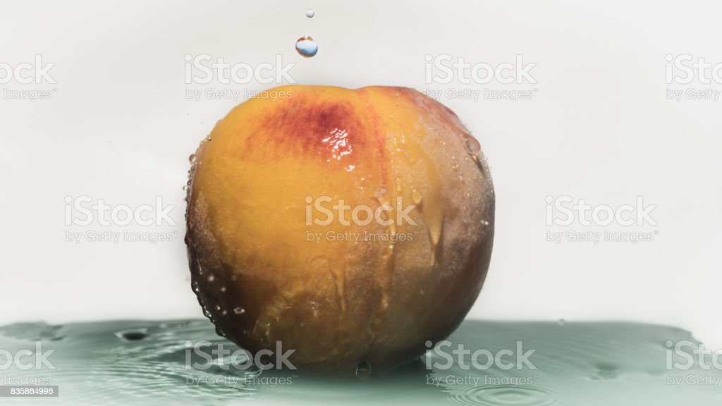 Refreshing peach stock photo