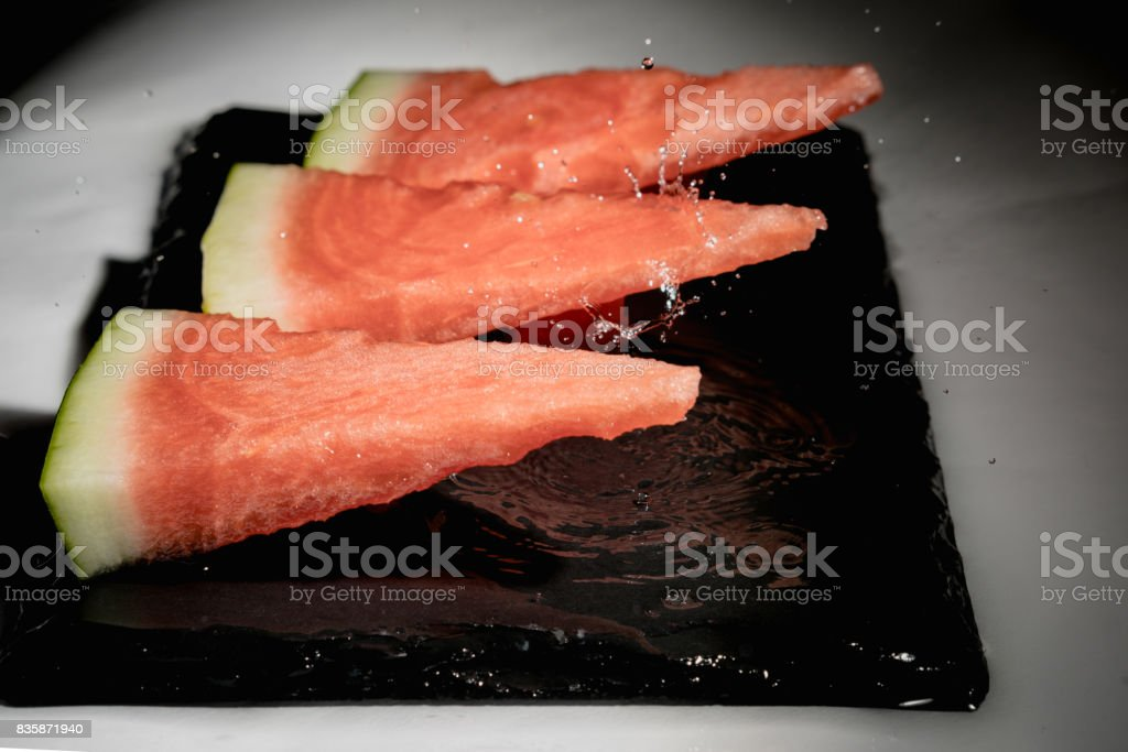 Refreshing pieces of watermelon stock photo