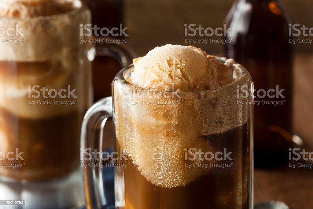 Refreshing Root Beer Float stock photo