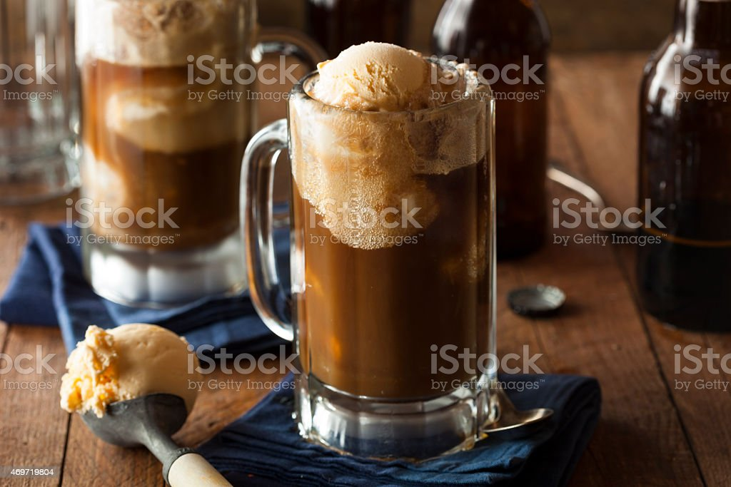 Refreshing Root Beer Float stock photo