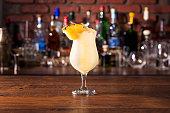 istock Refreshing Rum Pina Colada Cocktail 1129503405