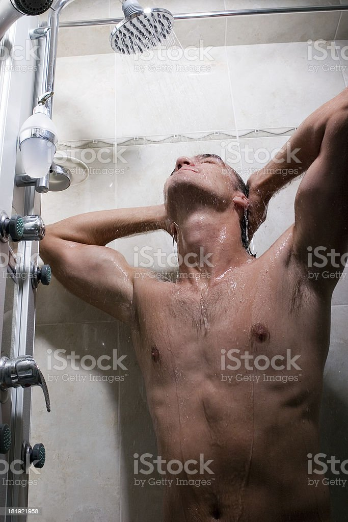 Refreshing Shower royalty-free stock photo