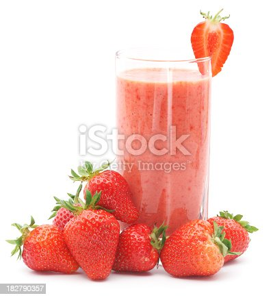 Refreshing strawberry smoothie with fresh strawberriesMy other similar images:
