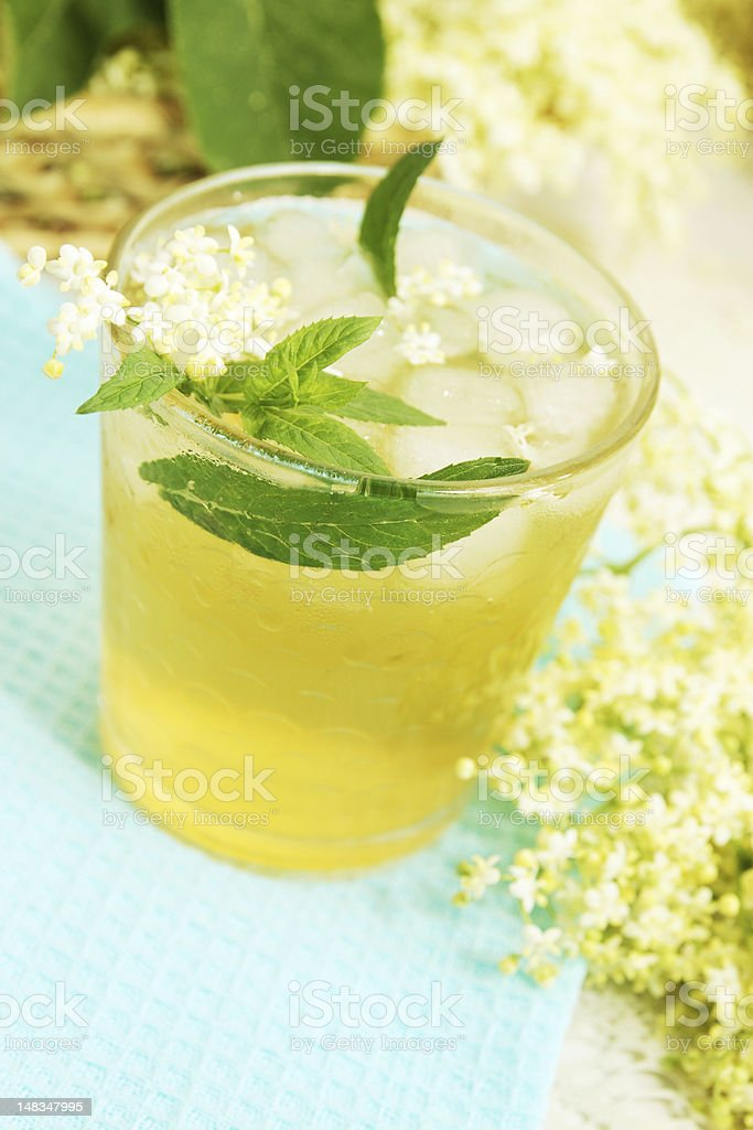 refreshing summer drink with mint royalty-free stock photo