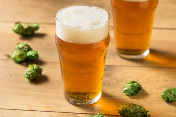 Refreshing Summer IPA Craft Beer stock photo
