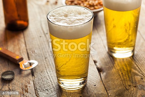 Refreshing Summer Pint of Beer Ready to Drink