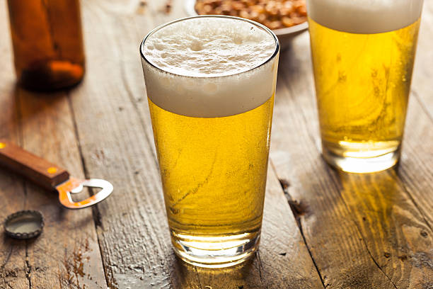 Refreshing Summer Pint of Beer stock photo