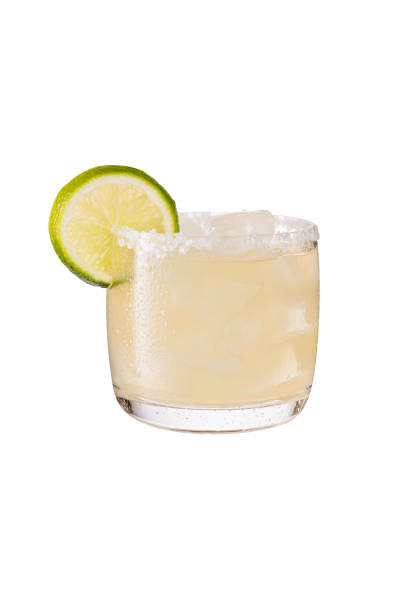 Refreshing Tequila Margarita Cocktail on White Refreshing Tequila Margarita Cocktail on White with a Clipping Path margarita stock pictures, royalty-free photos & images