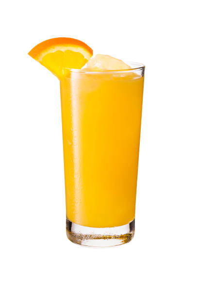 Refreshing Vodka OJ Screwdriver Cocktail on White Refreshing Vodka OJ Screwdriver Cocktail on White with a Clipping Path screwdriver drink stock pictures, royalty-free photos & images