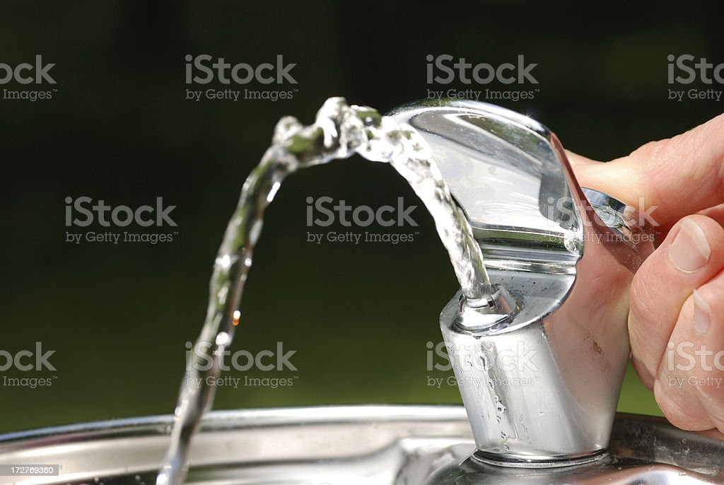 refreshing water fountain stock photo