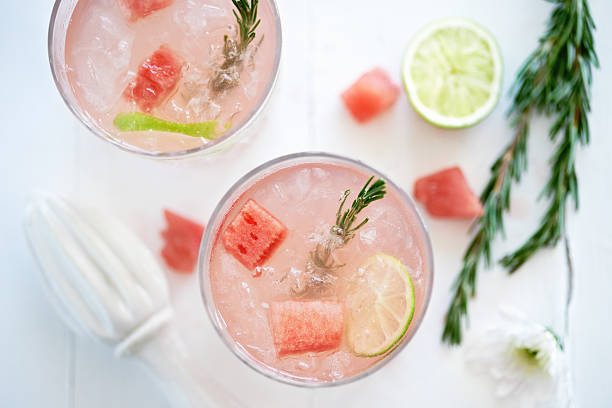 Refreshing Watermelon drink stock photo