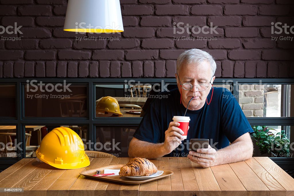 Refreshment coffee break stock photo