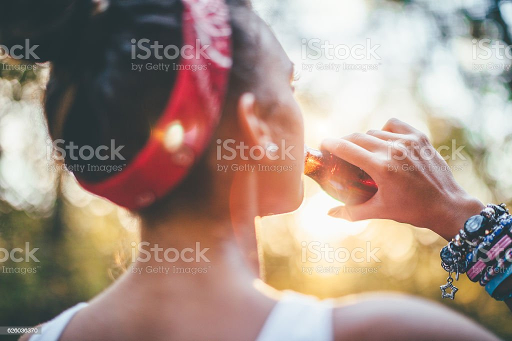 Refreshment! stock photo