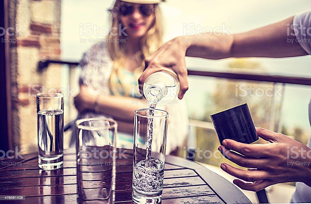 Erfrischungen im coffee bar – Foto
