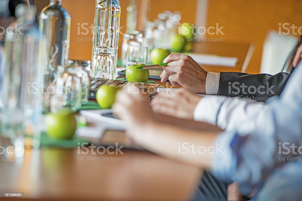 Refreshments on business conference stock photo