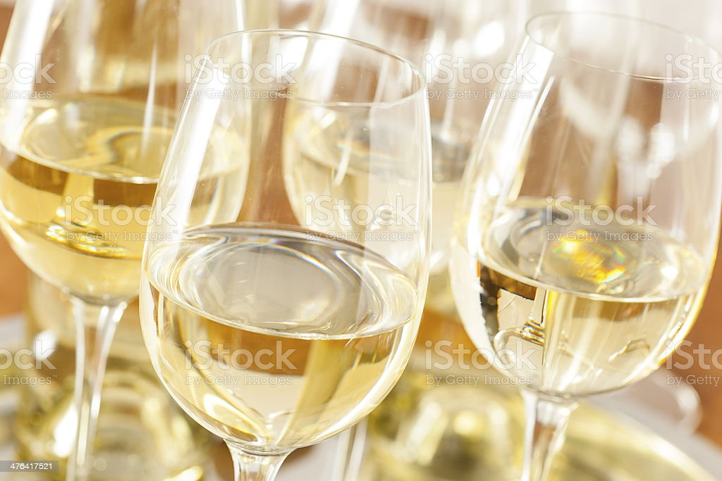 Refreshring White Wine in a Glass stock photo