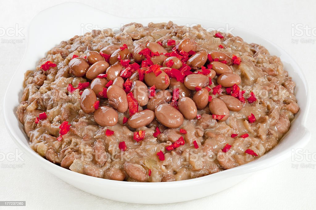 Refried Beans stock photo