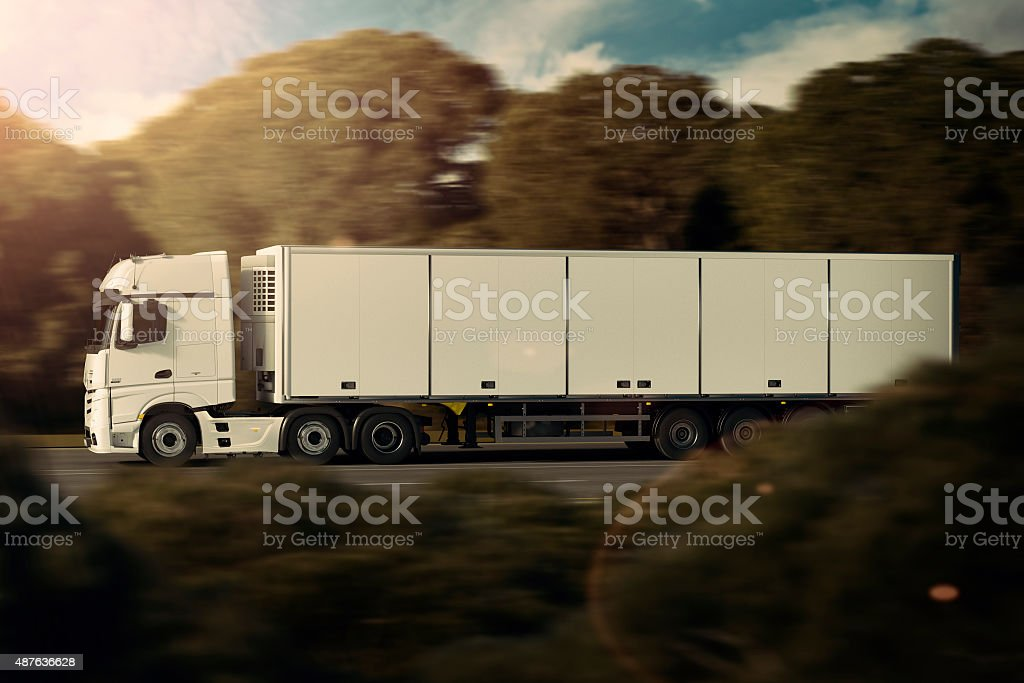 Refrigerated Haulage stock photo