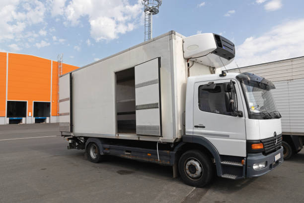 Refrigerated Truck Cargo stock photo