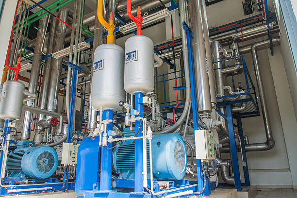 Refrigeration compressors. The food industry. compressor stock pictures, royalty-free photos & images