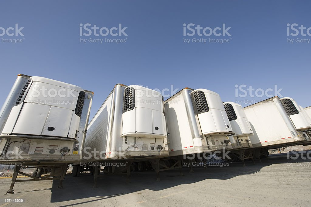 Refrigeration Trailers, Yellowknife, Northwest Territories, Canada royalty-free stock photo