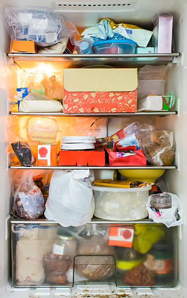 refrigerator dirty - full stock photos and pictures