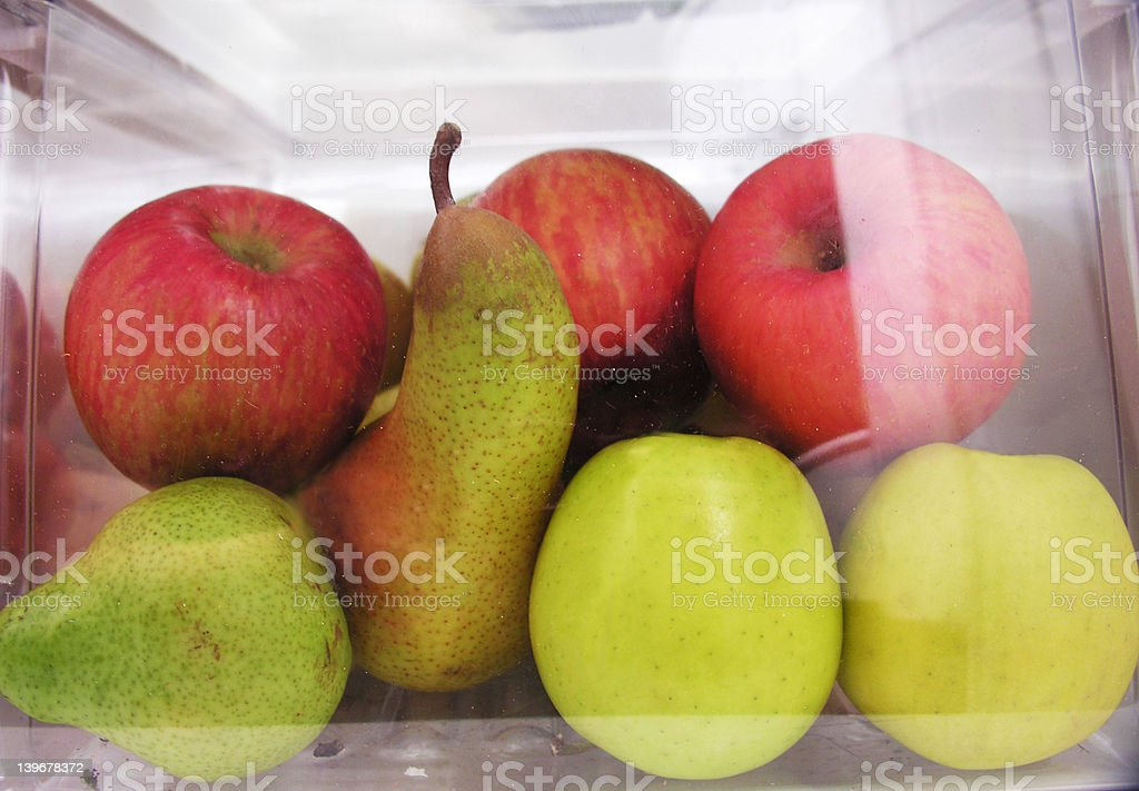 Refrigerator fruit bin stock photo