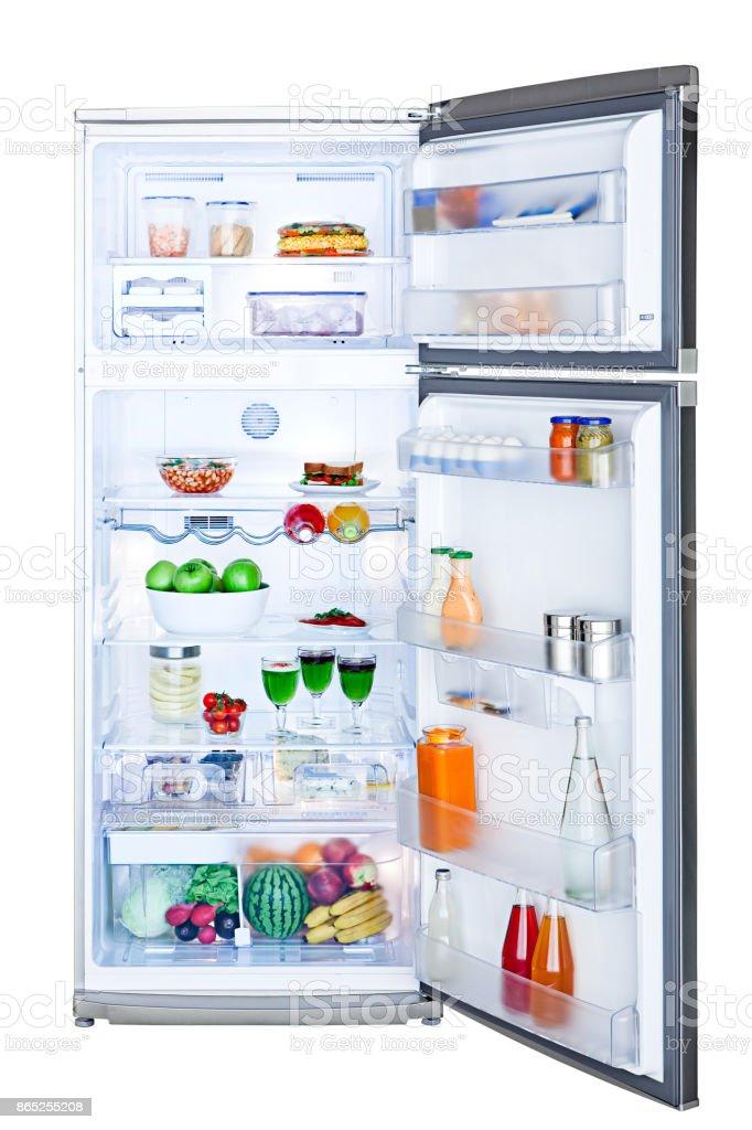 Kühlschrank, isoliert auf weißem Hintergrund – Foto