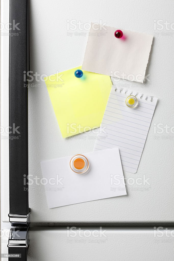 Refrigerator Notes royalty-free stock photo