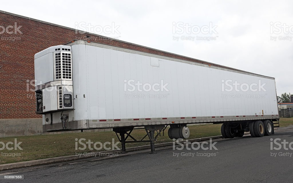 Refrigerator Trailer stock photo