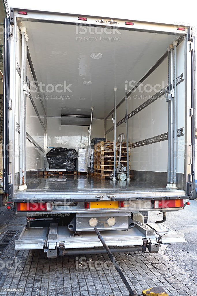 Refrigerator Truck stock photo